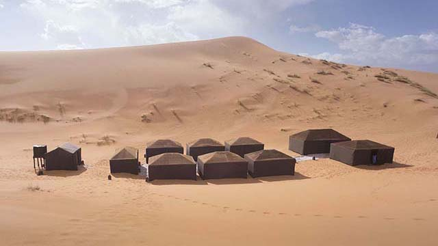 Berber Camp of Riad Dar Hassan at Erg Chebbi dunes in Hassilabied / Merzouga - Morocco