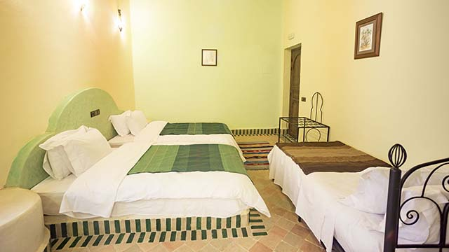 Accommodations Dades Triple Room overview