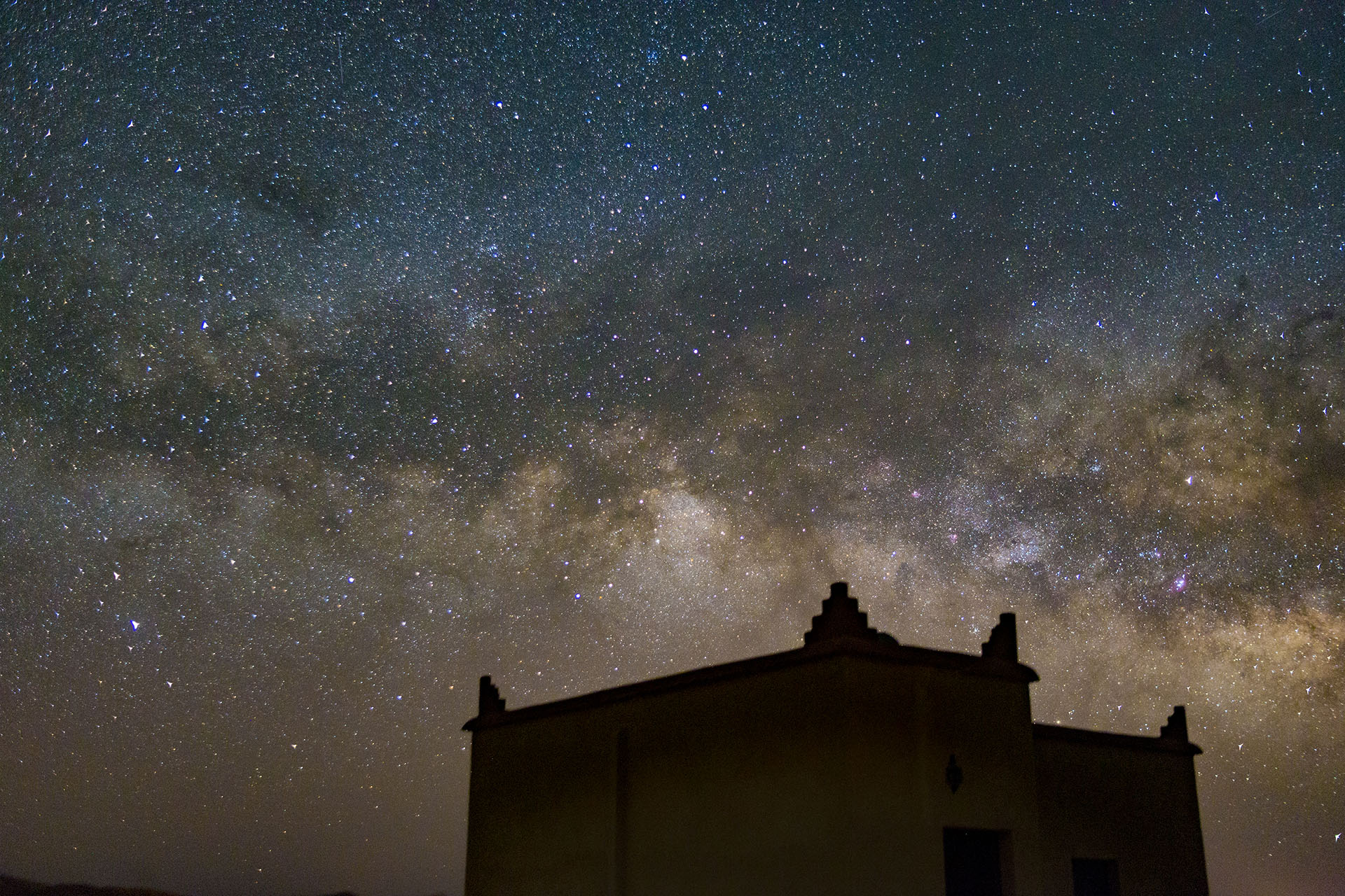 About Riad Da Hassan - Milky way over the riad - photo by Ezyê Moleda all rights reserved
