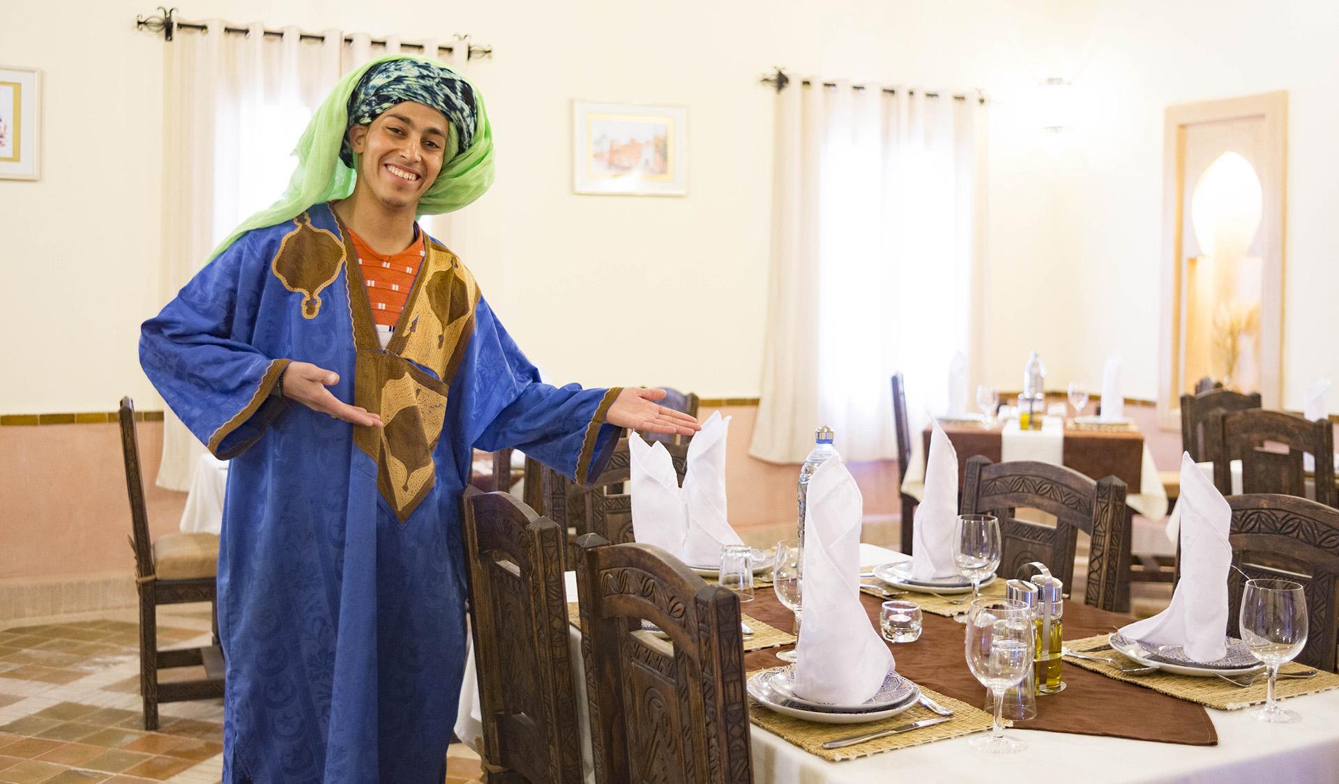 Sobre el restaurante del Riad Dar Hassan - foto Ezyê Moleda, todos los derechos reservados