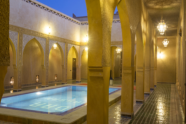 About Riad Dar Hassan swimming pool - photo by Ezyê Moleda all rights reserved